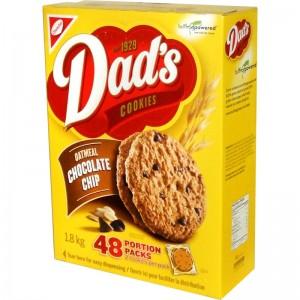 Dad's Cookies:Oatmeal Chocolate Chip Cookies; Portion Packs, 48 packs.