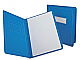 """Oxford Letter Recycled Report Cover - 8 1/2"""" x 11"""" - 100 Sheet Capacity - Stock, Stock, Embossed Paper, Fiber - Light Blue - 10% Recycled - 25 / Box"""