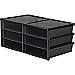 "Storex 6-compartment Litreature Sorter - 500 x Sheet - 6 Compartment(s) - 2"" Height x 8.8"" Width - Black - Plastic - 1Each"