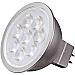 Satco LED MR16 Warm 500 Lumens Light Bulb - 6.50 W - 50 W Incandescent Equivalent Wattage - 12 V AC, 12 V DC - 500 lm - MR16 Size - Warm White Light Color - GU5.3 Base - 25000 Hour - 4940.3°F (2726.8°C) Color Temperature - 80 CRI - 40° Beam An
