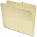 """House Brand Reversible Top Tab File Folder - Letter - 8 1/2"""" x 11"""" Sheet Size - 9.5 pt. Folder Thickness - Manila - Recycled - 100 / Box"""