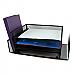 Winnable Mesh Desk Sorter Black Horizontal & Vertical 4 tier letter size