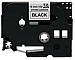 """Brand New Compatible P-touch TZe 1"""" Laminated Tape Cartridge - 15/32"""" Width x 26 1/4 ft Length - Rectangle - Thermal Transfer - Black on White - 1 Each"""