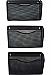 "Winnable Mesh 3-Pack Hanging Wall Files - 3 Pocket(s) - 33.5"" Height x 14"" Width x 6.6"" Depth - Wall Mountable - Black - Steel - 3/pk"